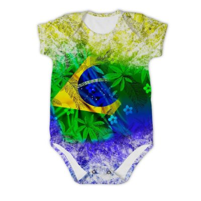 Body Bebê Manga Curta Brasil