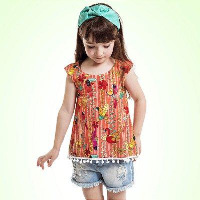 Bata Pompom Infantil Arara