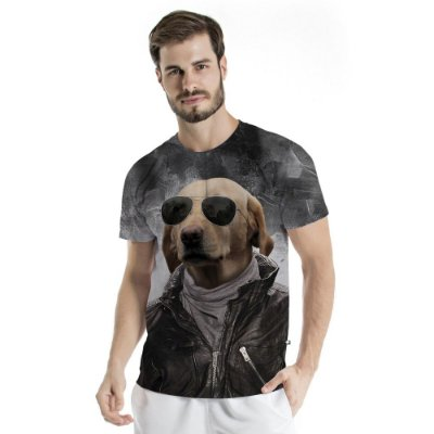 Camiseta Básica Adulto Dog Óculos