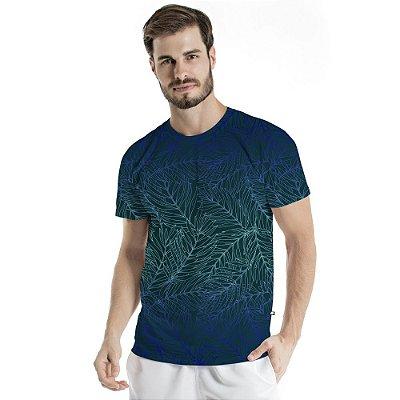 Camiseta Básica Adulto Folhas