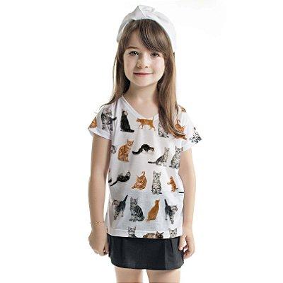Blusa Florata Infantil Cat