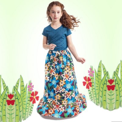Blusa Florata Infantil Poá Azul