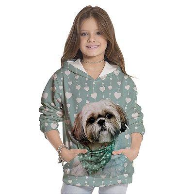 Moletom Infantil Unissex Dog Coração