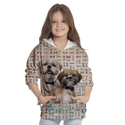 Moletom Infantil Unissex Dog Laço