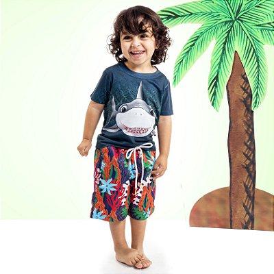Camiseta Básica Infantil Tubarão