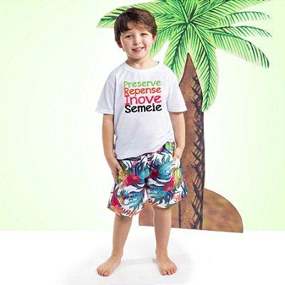 Camiseta Básica Infantil Frase Tucano