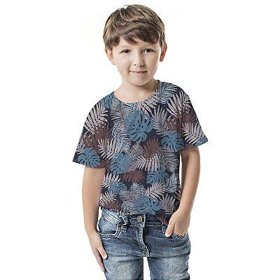 Camiseta Básica Infantil Costela Adão Azul