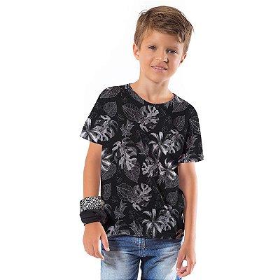 Camiseta Básica Infantil Costela Adão Preto