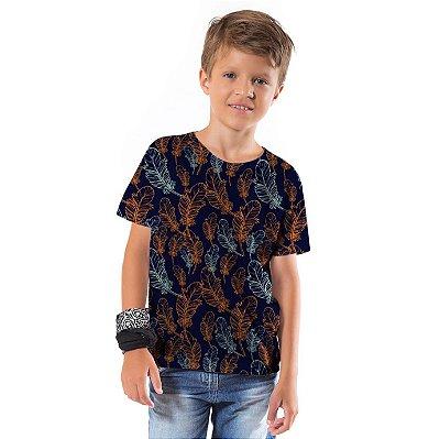 Camiseta Básica Infantil Penas