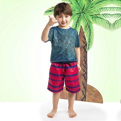 Camiseta Básica Infantil Folhas