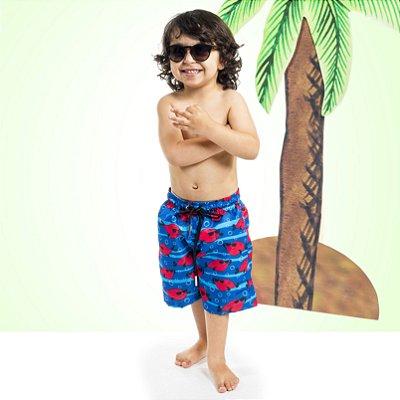 Bermuda Masculina Infantil Peixe Funny