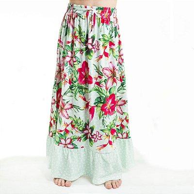 Saia Longa Lua Infantil Floral Barra