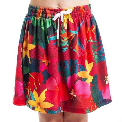 Saia Curta Com Bermudinha Floral Color