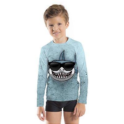 Blusa UV Infantil Unissex Tubarão
