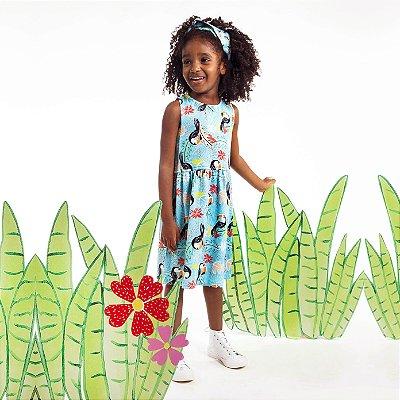 Vestido Tutti-Fruti Infantil Tucano Folhas