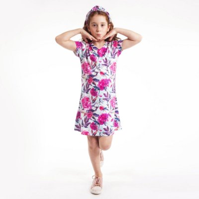Vestido Curto Vanilla Infantil Floral
