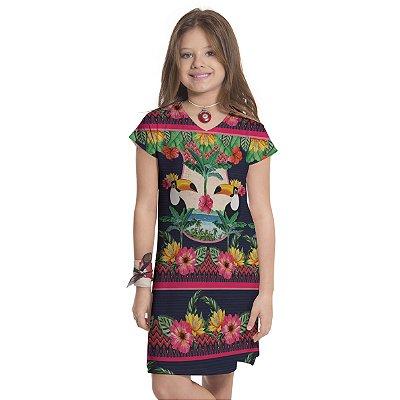 Vestido Curto Vanilla Infantil Hawai