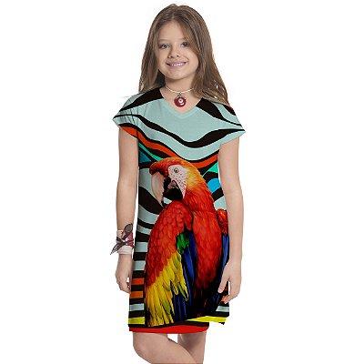 Vestido Curto Vanilla Infantil Arara Vermelha