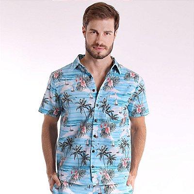 Camisa de Botão Adulto Veleiro