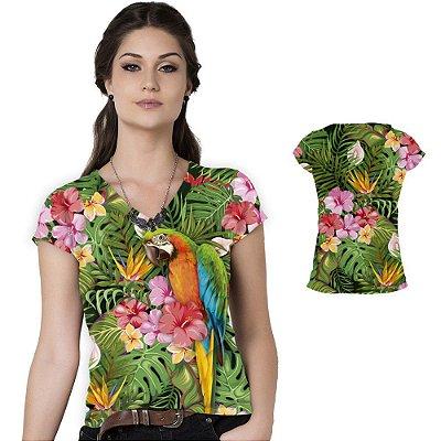 Blusa Florata Arara Colorida