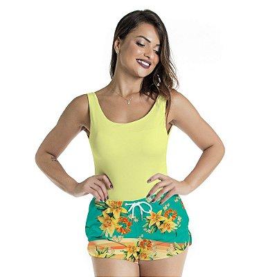 Bermuda Feminina Lírio Amarelo
