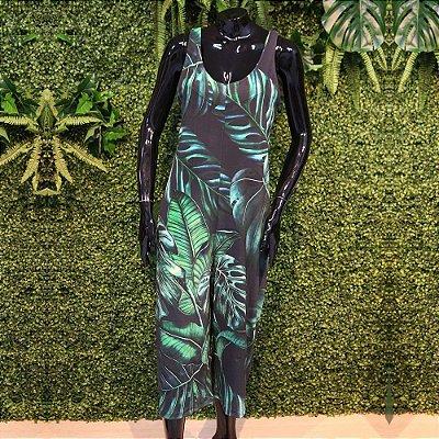 Macacão Pantacourt Costela de Adão Verde