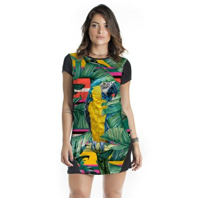 Vestido Curto Mullet Palmeira