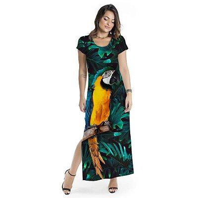 Vestido Longo Jeri Arara Frontal
