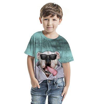 Camiseta Básica Infantil Dog de Casaco