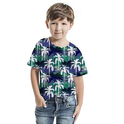 Camiseta Básica Infantil Coqueiros