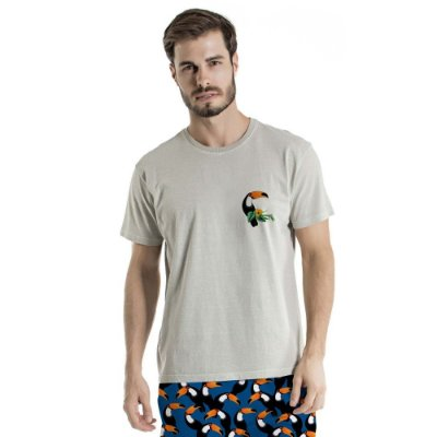 Camiseta de Algodão Estonada Tucano Frente e Costa