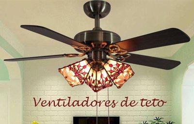 Ventiladores de teto com luminaria
