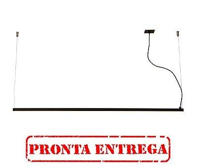 PRONTA ENTREGA / PENDENTE RÉGUA 31020/50 Usina Iluminação Perfil Linear Haste Moderno  x 2,3X50X17cm (1 m cabo) x Fita LED
