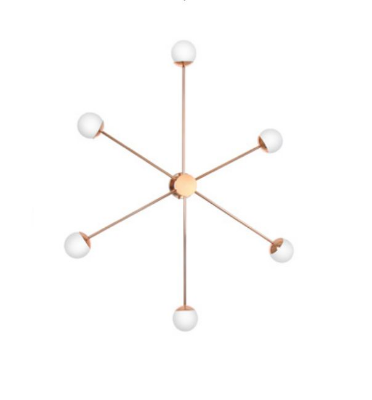 Arandela Old Artisan Esferas Vidro Metal Bronze 6 Braços Lineares 22x120cm 6x G9 Halopin 110 220v Bivolt AR5212-A Sala Estar e Saguão