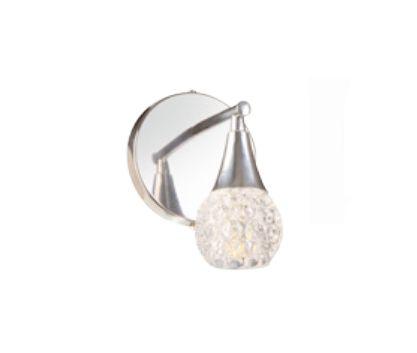 Arandela Old Artisan Cone Cristal Metal Cromo 19x15,5cm 1x G9 Halopin 110 220v Bivolt AR-5174 Entradas e Sala Estar