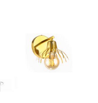 Arandela Old Artisan Cone Cupula Aberta Metal Dourado 18x15cm 1x E27 110 220v Bivolt AR-5165 Entradas e Hall