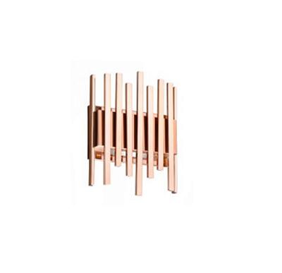 Arandela Old Artisan Hastes Linear Quadrado Metal 25x70cm 2x G9 Halopin 110 220v Bivolt AR-5153 Entradas e Sala Estar