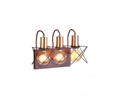 Arandela Old Artisan Triplo Foco de Luz Moderna Metal Cobre 25x33cm 3x E27 110 220v Bivolt AR5122-3 Entradas e Sala Estar