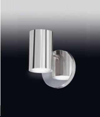 Arandela Old Artisan Tubo Redondo Esfera Linear Metal Cromo 15x12cm 1x PAR20 110 220v Bivolt AR-4999 Espelhos e Quadros