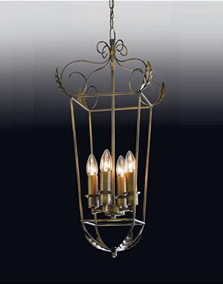 Pendente Old Artisan Curvas Metal Pendurado Inovador Bronze 70x22cm 4x E14 110 220v Bivolt PD-4942A Hall e Sala Estar