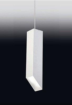 Pendente Old Artisan Minimalista Contemporâneo Pendurado Metal Branco 30x7,6cm 1x PAR20 110 220v Bivolt PD-4985 Escadas e Hall