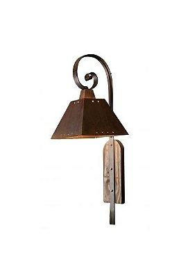 Arandela MadeLustre 2141 Napoli Estilo Antigo Rustico Madeira Colonial Metal de Fundição 1 lamp envelecido 80cmx30 Parede Muro Banheiro Sala