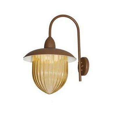 Arandela MadeLustre 2591/89 Veneza Estilo Antigo Rustico Metal de Fundição Ambar Grande 3 Lamp. Parede Muro Banheiro Sala