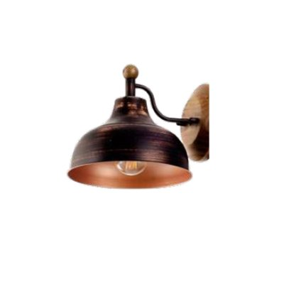 Arandela MadeLustre 2875PC BROOKLIN Madeira Colonial Metal Rustico Estilo Antigo 1 Lamp. PRETO COBRE Parede Muro Banheiro Sala