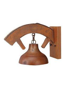 Arandela MadeLustre 420 Estância Rustico Madeira Colonial envelecido 1 Lamp. Parede Muro Banheiro Sala