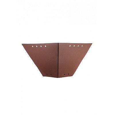 Arandela Madelustre Amb. Interno Rústica Metal Envelhecido envelecido 36x18 Napoli E-27 2564   Parede Muro Banheiro Sala
