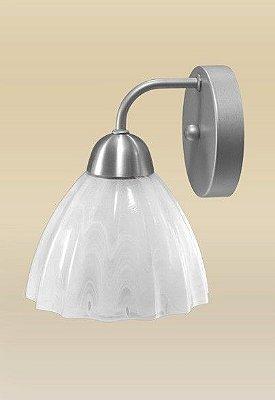 Arandela Madelustre Amb. Interno Tulipa Vidro Alabastro Branco 19x23 Vesúvio E-27 2071   Parede Muro Banheiro Sala