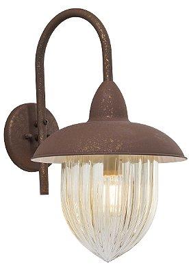 Arandela MadeLustre Veneza 2580/94 Estilo Antigo Rustico Metal de Fundição 1 Lamp. 1m Parede Muro Banheiro Sala