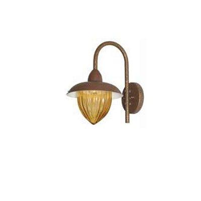 Arandela MadeLustre Veneza Estilo Antigo 2687/94 Rustico Metal de Fundição Pequena 1 Lamp. 1m Parede Muro Banheiro Sala
