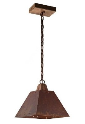 Pendente MadeLustre 2142 Napoli Estilo Antigo Rustico Madeira Natural Metal de Fundição 1 lamp envelecido 1m Sala de Jantar Quarto e Cozinha
